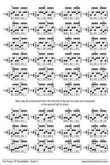 Nick Carter Drums - The Power Of Paradiddles - Book 2 - p.20